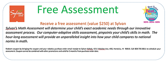free math assessment coupon